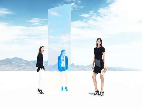 Mod Mirrored Fashion Campaigns