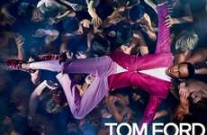 Crowd Surfing Fashion Campaigns - The Tom Ford Spring/Summer 2014 Ads Feature Throngs of Models
