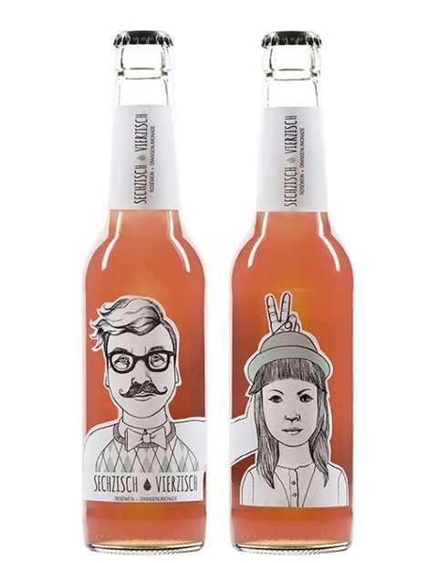 Hipster-Faced Brew Branding