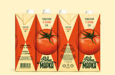 Collaged Veggie Drink Branding - Ridna Marka Juice Cartons Come Together to Form a Vivid Picture