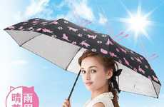 UV-Sensitive Umbrellas - The Cat Stroll UV Umbrella Changes Color to Reflect the Sun's Intensity