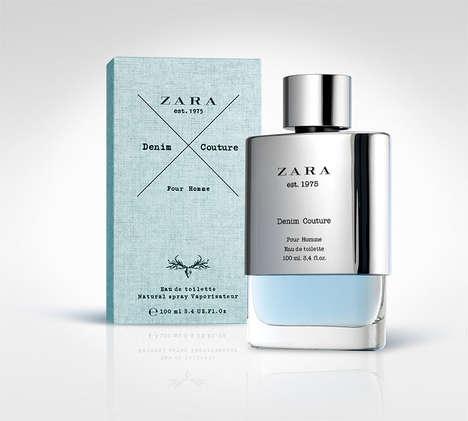 Denim-Like Perfume Packaging