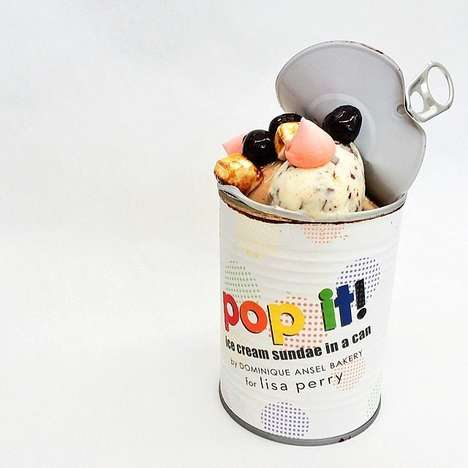 Canned Ice Cream Sundaes - Dominque Ansel Teams Up with Lisa Perry for an Unusual Frozen Treat
