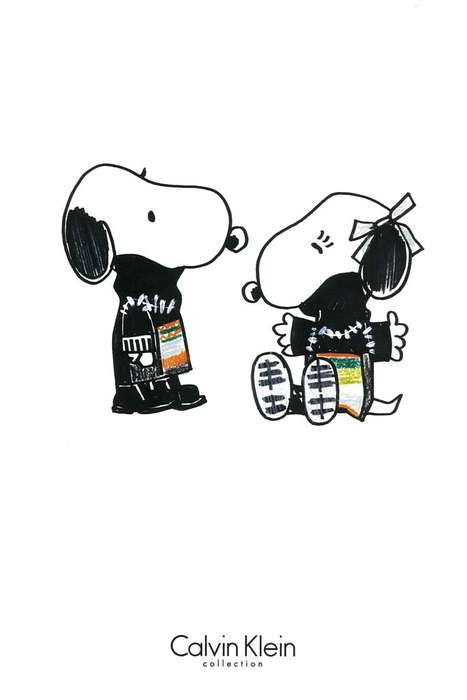 Designer Cartoon Clothing - Snoopy and Belle Will Be Sporting Cartoon Fashion at NYFW