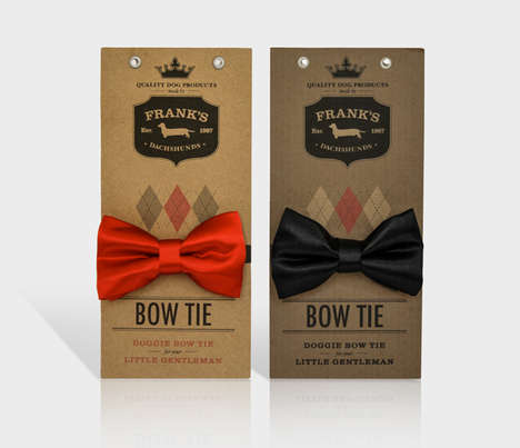 Handsome Pooch Packaging - Frank's Dog Product Packaging is Specific to Dachshunds