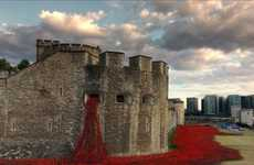 Spewing Poppies Installations - Paul Cummins' Blood Swept Lands and Seas of Red is Breathtaking