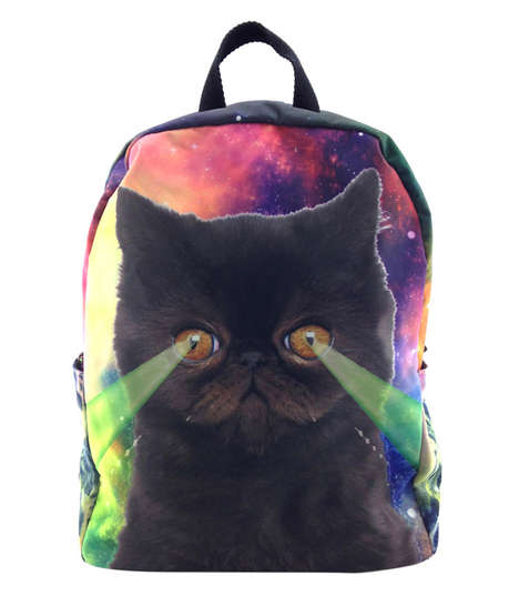 Galactic Feline Backpacks - The Dark Star Kitty Backpack is Perfect for Back-to-School