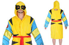 Geeky Mutant Robes - The Wolverine Hooded Cotton Bathrobe is Perfect for X-Men Fanatics