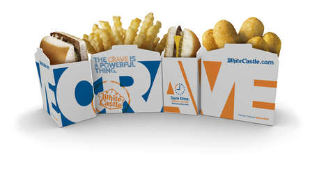 Typographic Food Boxes - White Castle's Fast Food Boxes Contain and Spell Out What You Crave