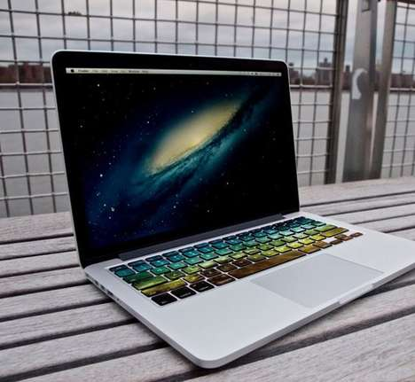Galactic Keyboard Decals - These Striking Nebula 3 Keyboard Decals are the Ultimate Tech Accessory