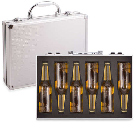 Briefcase Beer Packaging - This Beer Case Allows You to Safely Transport Your Six Pack in Style
