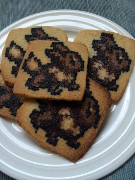 Pixelated Cookie Designs