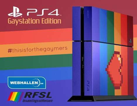 Prideful Gaming Consoles - The Gaystation Proudly Shows Off Its Colors for Stockholm Pride Festival