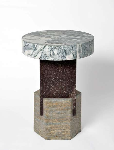 Layered Marble Furnishings