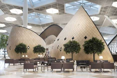 Cocooned Airport Terminals - Heydar Aliyev International Airport Terminal by Autoban is Cultural