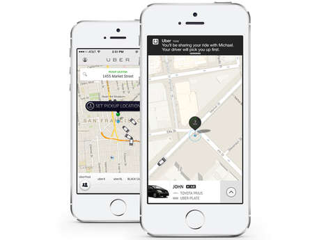 Fare-Splitting Cab Services - UberPool Lets You Share a Taxi Ride and Split the Fare with Strangers