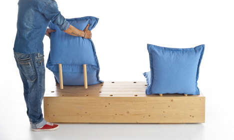 Pillow Pegboard Benches