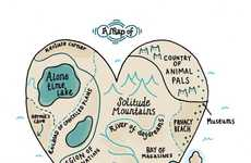 Illustrated Introvert Maps - Gemma Correll's Cute Cartoons Characterize an Introvert's Heart