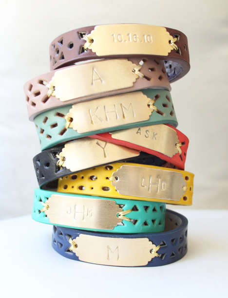 Colorfully Personalized Bracelets - Etsy's Sweet Auburn Studio Shop Creates Elegant Cuff Accessories