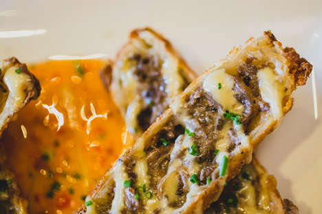 Cheesesteak Egg Rolls - Del Frisco's Grille Blends Asian and American Culture with This Dish