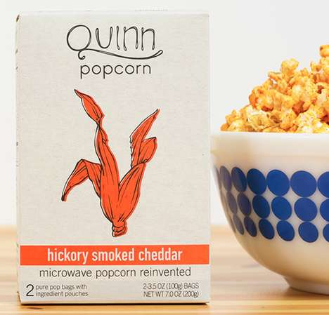 Microwaveable Organic Popcorn - Quinn Popcorn is GMO, Artificial Ingredient and Preservative-Free