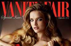 Sensual Fur Editorials - Natalia Vodianova Lucuriously Covers the Latest Issue of Vanity Fair