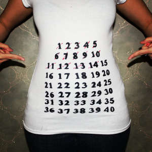 Pregnancy Countdown T-Shirts - This DIY Project is Perfect for Maternity Photoshoots