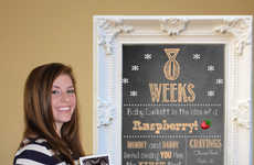 Pregnancy Countdown Chalkboards - This Chalkboard Ensures You Don't Miss a Moment