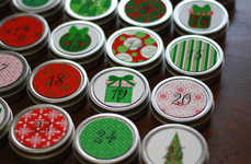 Christmas Countdown Magnets - This 25 Day Advent Calendar is Helps You Count Down to the Occasion