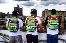 Cinematic Reptile Backpacks - These Teenage Mutant Ninja Turtles Backpacks are Super Boisterous