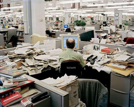 Chaotic Newsroom Photography