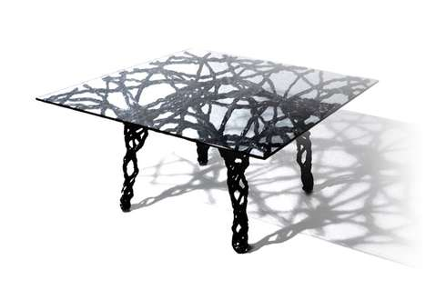 Webbed Wireframe Furnishings - Mateo Design's Nexus and Deco Collections are Made with Carbon Fiber