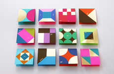 Colorful Thank You Cards - Designer Ken Lo Relies on Vibrant Geometry to Express Gratitude