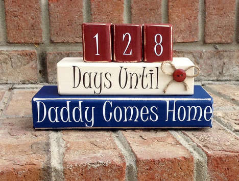 Military Countdown Blocks - Katie Talbo Provides a Great Way to Anticipate Return of Beloved Soldier