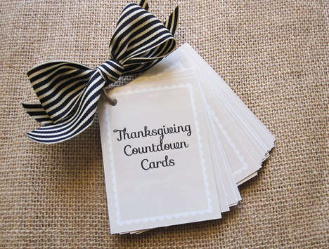 Thanksgiving Countdown Cards