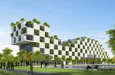 Checkerboard School Structures - VTN Architects' New Design Naturally Beats the Hanoi Heat
