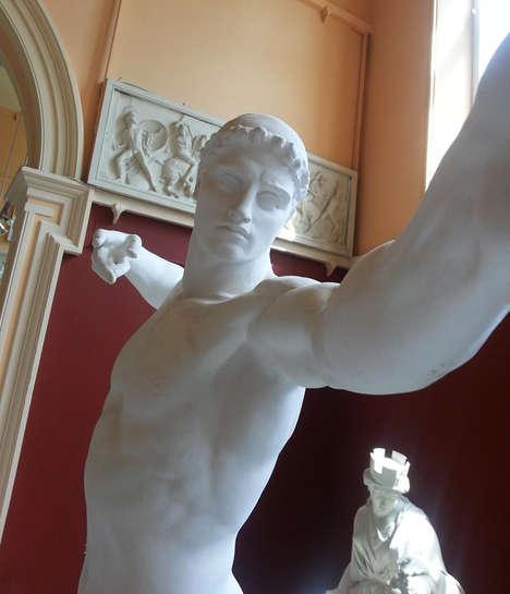 Satirical Statue Selfies