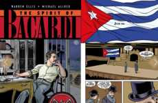 Boozy Graphic Novels - The Spirit of Bacardi Historic Graphic Novel Illustrates the Brand's Origins