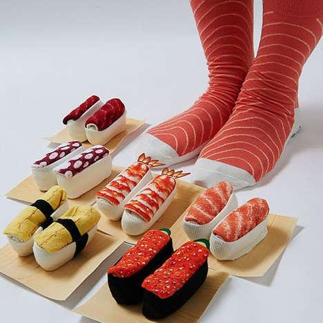 Kitschy Sushi Socks