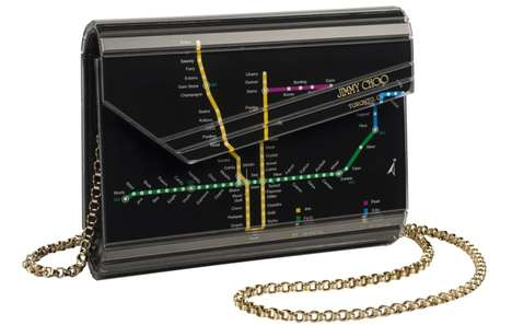 Toronto Commuter Couture - Jimmy Choo's TTC Clutch Will Be Available at Their Yorkdale Location