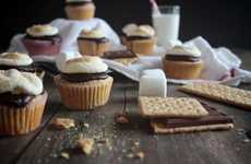 Campfire Cookie Cupcakes - These S'mores Cupcakes Bring Camping Treats into the Kitchen