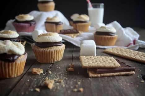 Campfire Cookie Cupcakes