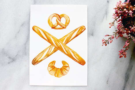 Carb-Obsessed Art Greetings