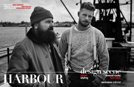 Rugged Fisherman Editorials - Design Scene's HARBOUR Exclusive Boasts Hipster-Themed Attire