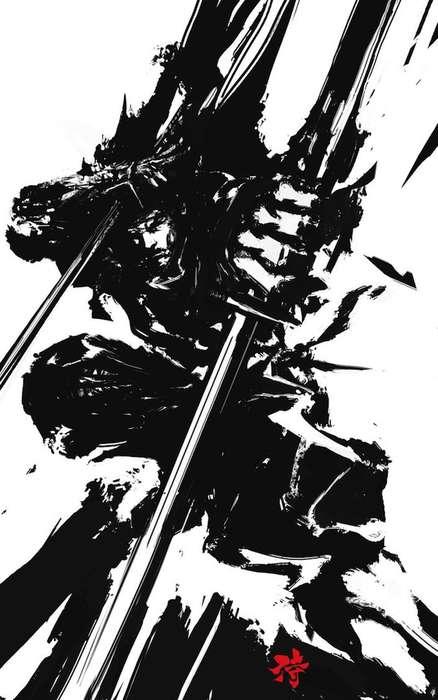 Japanese-Style Samurai Art