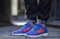 Graphic-Woven Shoes - The Adidas Originals FW14 ZX Flux Weave Pattern is Graphically Bold