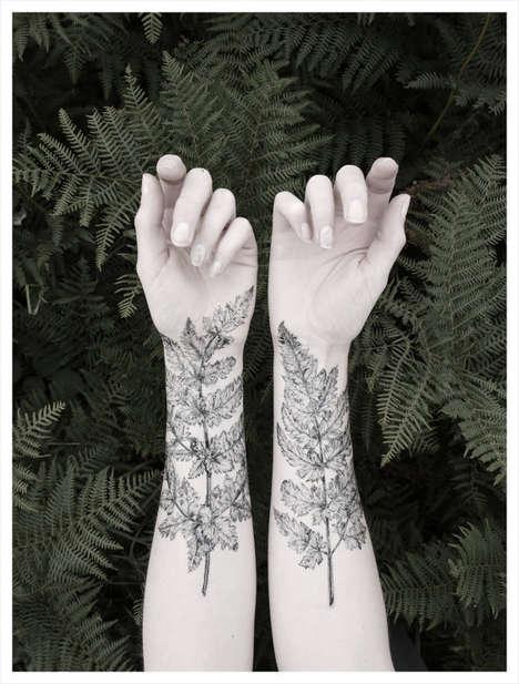 Faux Foliage Tattoos
