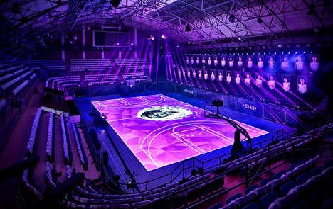 LED Basketball Courts