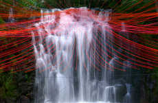 Kinetic Waterfall Installations