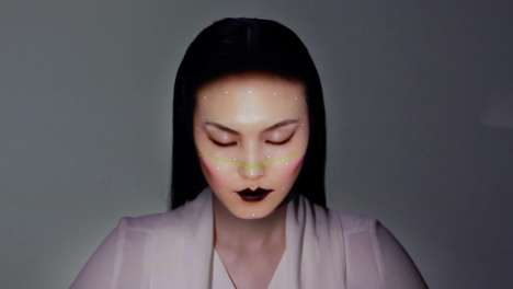 Projection-Mapped Makeup